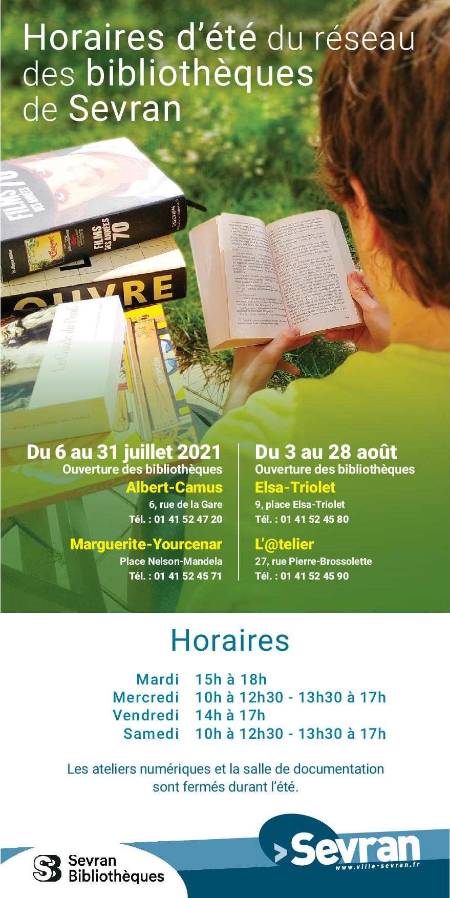 Hoaires été 2021 - Bibliothèques